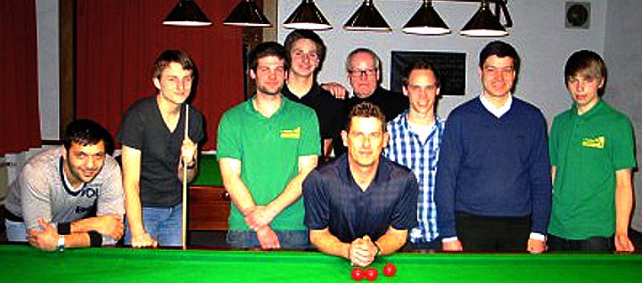 Bundestrainer Thomas Hein beim 1. Snooker-Club Mayen-Koblenz