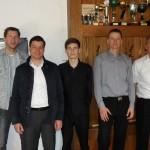 Halbfinalisten mit Turnierleiter Frank Kostorz